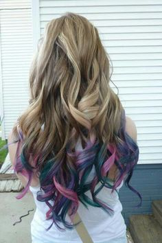 My dip dyed hair I got done last summer 2012