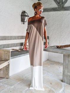 Taupe Beige Ivory Maxi Dress / Maxi Dress / Long Sleeve Dress / Winter Dress / Elegant Dress / Kaftan / Plus Size Dress / Dress Plus Size, Plus Size Maxi Dresses, White Maxi Dresses, Elegant Dresses, Open Back Maxi Dress, The Dress, Dress Long, Kaftan, Moda Plus Size