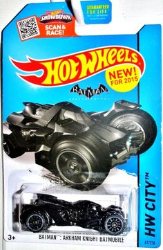BATMAN:ARKHAM KNIGHT BATMOBILE Hot Wheels 2015 HW CITY-Batman #61/250 NEW  #HotWheels #HotWheels