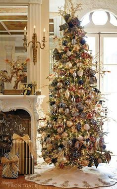 Fireplace, Christmas decorating ideas