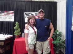 Guess who stopped by Ron Albiero's booth. Washington County Fair