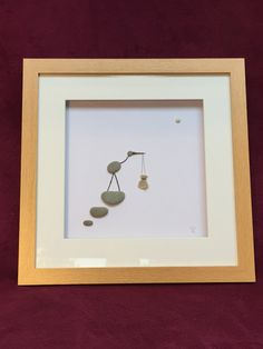 New Arrival  Contemporary art work. Finished Frame size 45 x 45cm 3.5cm deep  Would make a unique gift for a baby shower. Due to the fragile nature of this work, shipping includes insurance to the value of your item. We are happy for you to collect your piece, we are located in Woking, Surrey. UK