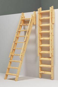 Se de ulike trapp og stige mulighetene til din hytte.