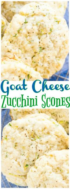 Flaky, tender, buttery, and soft, these Goat Cheese Zucchini Scones are everything you want in a biscuit or savory breakfast scone.
