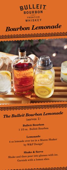 The only thing better than lemonade on a hot summer day is Bourbon Lemonade. It's the perfect group serve for your last summer BBQ or backyard party. Simply combine 1.3 oz Bulleit Bourbon and 4 oz. lemonade over ice in a W&P Design Mason Shaker. Shake and then pour into glasses with ice. Garnish with a lemon slice.