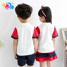 408f289e2 Escuela ropa para niños niñas tenis niños deportes traje uniformes de  verano niños edad tamaño 6 7 8 9 10 11 12 15 16 años