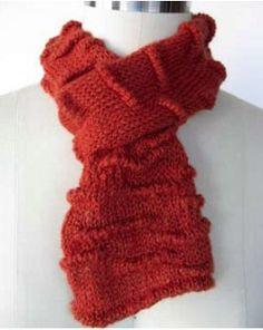 Welted Scarf - fine yarn | AllFreeKnitting.com