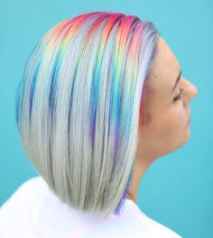 Asian women hair color highlights best braid styles,finger wave bridal hairstyles finger waves with bobby pins,hairstyles for teenagers short hair feathers. Creative Hair Color, Cool Hair Color, Hair Colour, Pelo Multicolor, Coloured Hair, Creative Hairstyles, Rainbow Hair, Rainbow Prism, Mermaid Hair