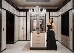 Dressing room of dreams at our Surrey project with antique brass trimmed… Dressing Room Closet, Wardrobe Closet, Closet Space, Dressing Rooms, Glam Closet, Closet Vanity, Dressing Room Design, Master Bedroom Closet, Luxury Closet
