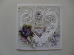 knipvel marieke 2455 mallen lt0299-lr0192 bloem mal joy 6002/0024 scrappapier krvat janneke brinkman Craft Cards, Marianne Design, Hobbies And Crafts, Quilling, Handmade Cards, Wedding Cards, Homemade, Engagement, Frame
