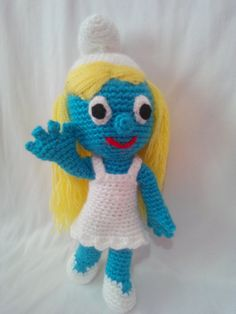 örgü oyuncak şirine amigurumi smurfette  http://amigurumi-orgu-oyuncak-evi.blogspot.com.tr/