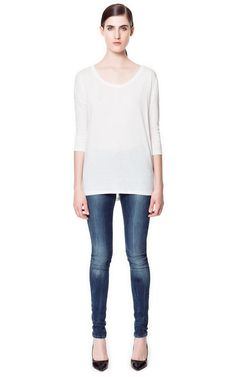 BLUE GREY SUPER STRETCH SKINNY JEANS - Jeans - Woman - ZARA United States $59.90