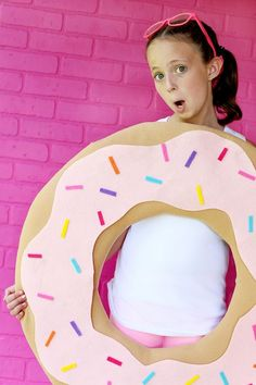 No-Sew DIY Donut Costume | iLoveToCreate