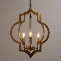 Gold Quatrefoil Pendant Lamp - All For Decoration 3 Light Chandelier, 3 Light Pendant, Pendant Chandelier, Pendant Lighting, Chandelier Ideas, Gold Pendant, Room Lights, Hanging Lights, Ceiling Lights