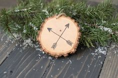 Hey, I found this really awesome Etsy listing at https://www.etsy.com/listing/206012706/arrow-wood-slice-ornament-rustic