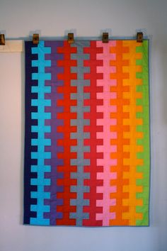 zipper quilt. no pattern, inspiration only.