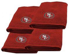 San Francisco 49ers NFL Logo Bath Towel