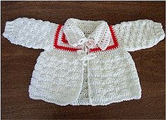 Ravelry: Lil' Darlin' Baby Sweater pattern by Dot Matthews
