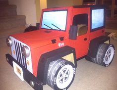Cardboard Jeep