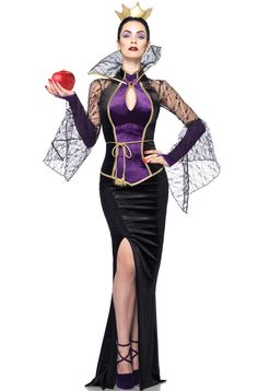 2018 Leg Avenue Inc Women's Disney Evil Queen Costume and more Disney Costumes for Women, Women's Halloween Costumes for Evil Queen Halloween Costume, Costumes Halloween Disney, Disney Villain Costumes, Adult Disney Costumes, Hallowen Costume, Disney Cosplay, Princess Costumes, Disney Villains, Adult Halloween