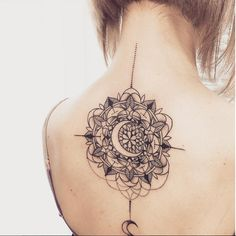 This moon mandala is perfect on the back.