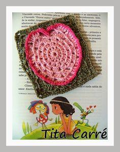 O Square Coração em crochet e a  história do dia dos Pais