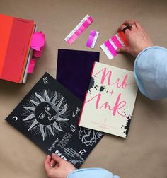 Nib + Ink Modern Calligraphy Book by Chiara Perano. Picture by Modern Calligraphy, Guide Book, My Books, Gift Wrapping, Ink, Learning, Instagram Posts, Pictures, Gift Wrapping Paper