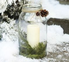 Oversized Mason Jar -- perfect Christmas decoration