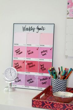 DIY: pantone paint chip memo board