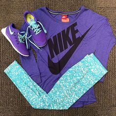Nike Pro Work out Clothes http://www.fitnessapparelexpress.com/