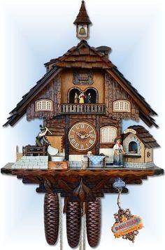 Anton Schneider | 8TMT 2550/9 | 24 inch | Bakers Mill | Chalet | cuckoo clock | full view