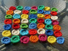 colorful crochet circles, crochetbug, textured crochet, crochet hilbert curve, crochet blanket, crochet throw, crochet afghan