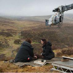 Behind the scenes from #Outlander via STARZ Instagram - Sam  Cait #OutlanderTVSeries