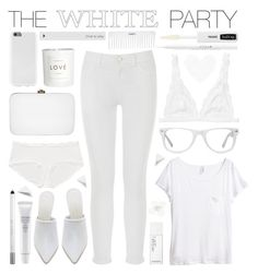"""""""The White Party"""" by julesdiaries ❤ liked on Polyvore featuring Monki, H&M, Rocio, Jenni Kayne, Muse, Stila, Shiseido, Conair, Urban Decay and Isadora"""