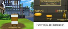 Mod The Sims - Functional Beekeeper Box (More Wax and Honey Update)