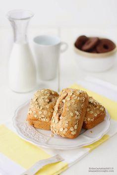 La tana del coniglio: Piccoli banana bread vegani con farro e avena