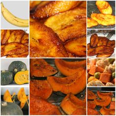 "Food Files: Fried Ripe Plantains & Roasted Kabocha ""When you rise in the morning, give thanks for the light, for your life, for your strength. Give thanks for your food and for the joy of living. If you see no reason to give thanks, the fault lies in yourself."" Tecumseh #Food #plantains #kabocha"