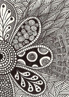 Zentangle drawings, doodle drawings, doodles zentangles, mandala drawing, e Doodle Art For Beginners, Easy Doodle Art, Doodle Art Designs, Zen Doodle, Mandalas Drawing, Zentangle Drawings, Doodles Zentangles, Doodle Drawings, Easy Zentangle