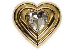 Vintage YSL Heart Compact on OneKingsLane.com