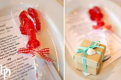 Even people with an aversion to sea food will love this little lobster! Little Mermaid Wedding, The Little Mermaid, Wedding Favors, Party Favors, Wedding Ideas, Lobster Bake Party, Hes Her Lobster, Crab Feast, Under The Sea Party