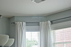 PVC pipe to curtain rod!! cheap and such a great idea