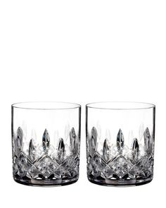 Waterford Lismore Diamond Double Old-Fashioneds Set of  2 $85 - FREE S & H - COMPARE ELSEWHERE AT $100 - Shop SARTO'S - SartosHome.Com