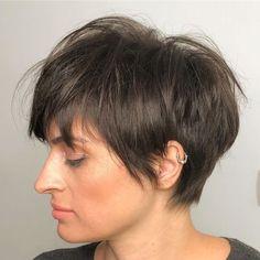 Brown Pixie Cut, Layered Pixie Cut, Messy Pixie Cuts, Messy Pixie Haircut, Shaggy Pixie, Short Shaggy Haircuts, Pixie Cut With Bangs, Longer Pixie Haircut, Blonde Pixie Cuts