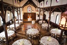 All Saints Chapel in Raleigh can also be used as a reception venue! | Photo by Gabrielle Elyse Photography