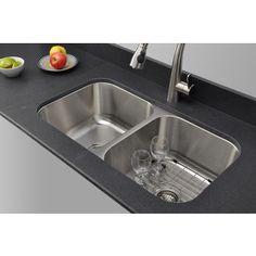 Wells Sinkware 16-gauge 70/30 32-inch Double Bowl Undermount Stainless Steel Kitchen Sink Compare