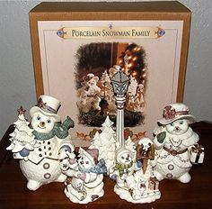 Grandeur Noel Snowman Family >>> This is an Amazon Affiliate link. Be sure to check out this awesome product.