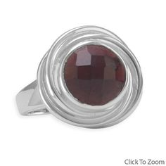 Faceted Garnet Button Ring        Price: $76.95