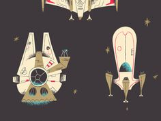 A New Hope by Rogie King #art #illustration #spaceships