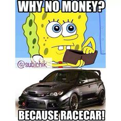 Why no money? Because racecar! Come visit us at https://www.facebook.com/DevilsOwnInjection