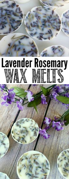 DIY lavender rosemary wax melts - can be used in any wax pot. I love this scent!
